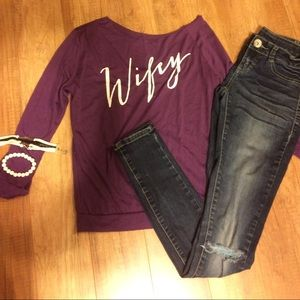 Wifey shirt and Vanity jeggings bracelets included